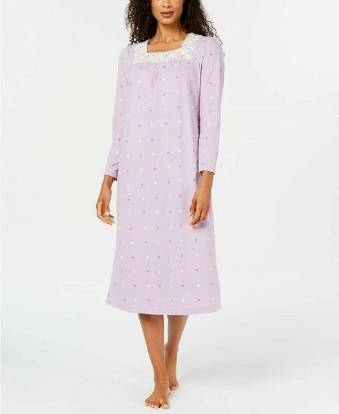 Charter Club Women's Printed Fleece Nightgown 100069366 Dots S M L XL XXL