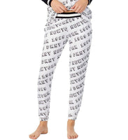 DKNY Women's Jogger Pajama Pants Y2119417 White Print Medium
