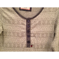 Tommy Hilfiger Cozy Country Henley Sleepshirt RH42S080 Grey Fairisle XS - Red Tag Central