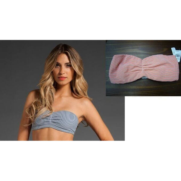 "Top Secret ""The Prepster"" Bandeau Bra Top XS SMALL MEDIUM Blues or Oranges - Red Tag Central"