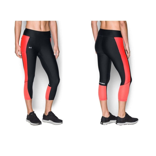 Under Armour UA HeatGear Fly-By Running Capris 1297933 Black XS - Red Tag Central