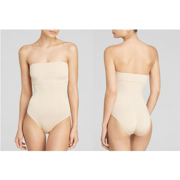 Wacoal B-Smooth Strapless Bodysuit 836375 Naturally Nude 32 - Shapewear