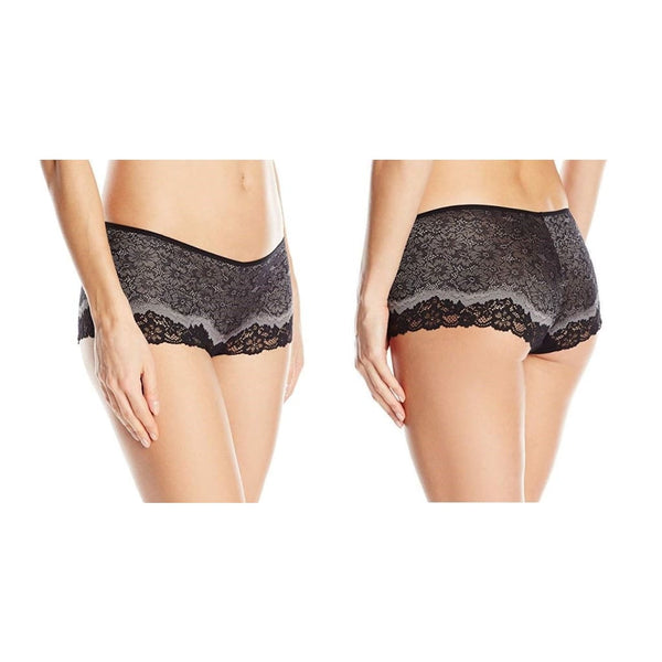 Wacoal Basic Benefits Boyshort Panty 845290 Black Toast Small Medium XL - Red Tag Central