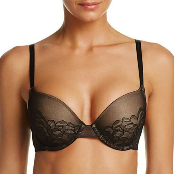 Wacoal Stark Beauty Rose-Lace Contour Bra 853225 Black 30D 30DDD - Red Tag Central