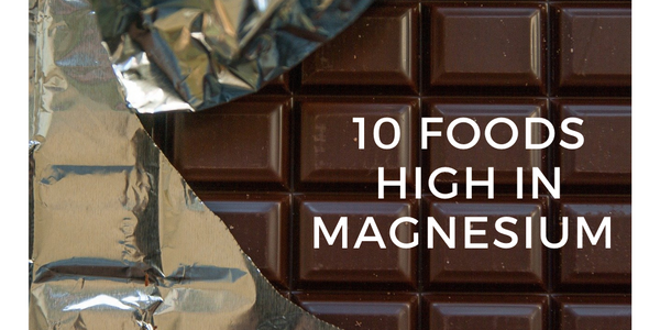 Foods high in magnesium: dark chocolate