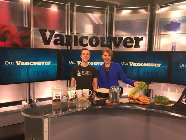 Our First TV Interview: Talking Bone Broth on CBC Vancouver