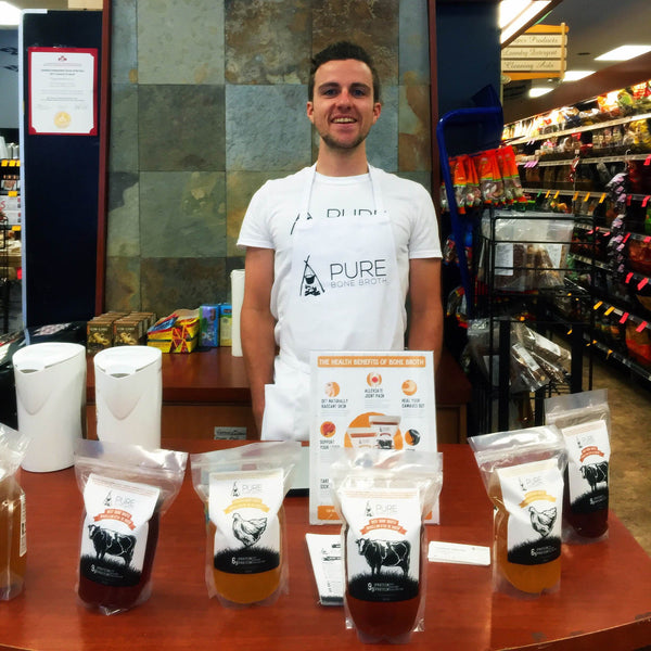 Pure Bone Broth on Sale at Choices (and tastings)!
