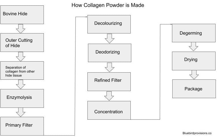 How is collagen powder made