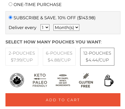 how to subscribe and save on organic bone broth in canada