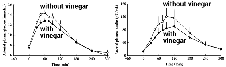 Apple cider vinegar blood sugar response