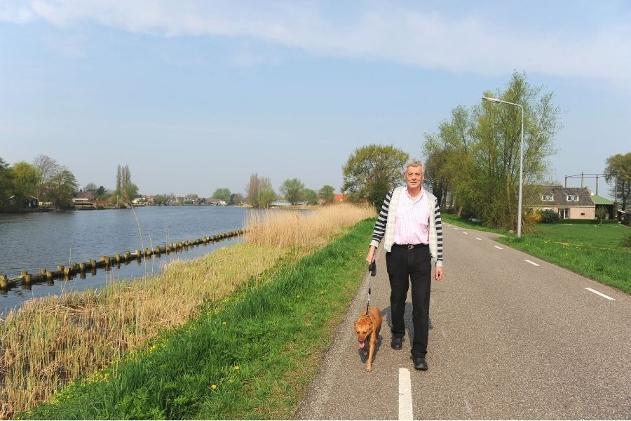 go for a walk to relieve bloating
