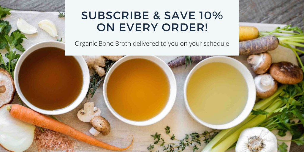 subscribe and save on organic bone broth from Bluebird Provisions