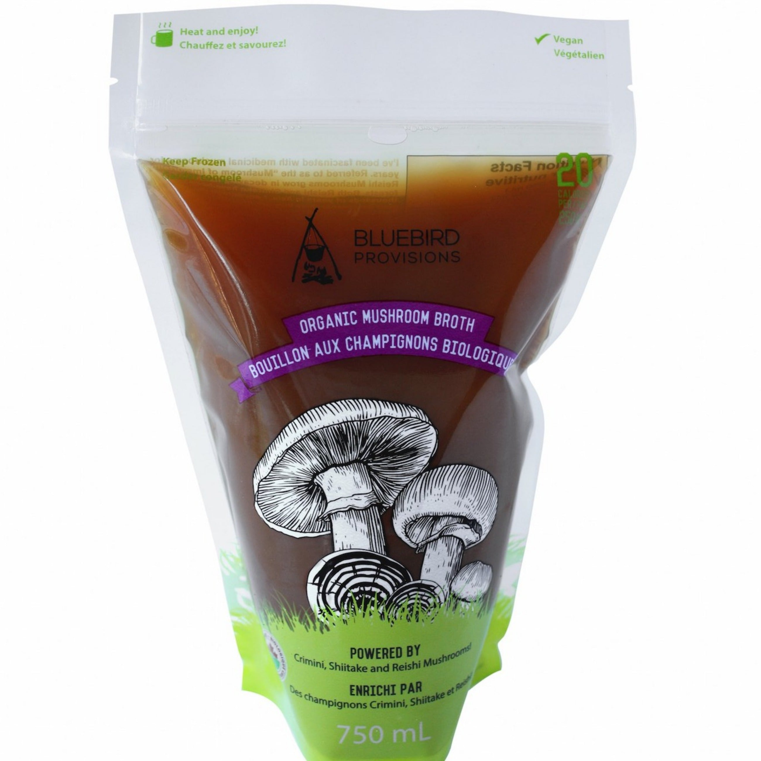 Superfood Mushroom Broth Front of Package