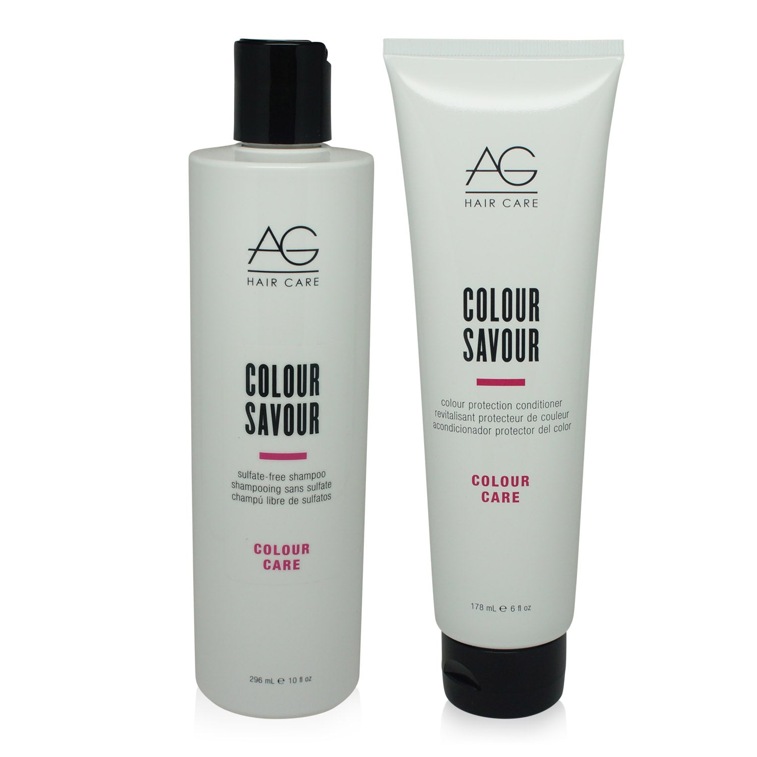 AGHAIR ~ COLOUR SAVOUR SHAMPOO 10 OZ & CONDITIONER 6 OZ ~ COMBO PACK