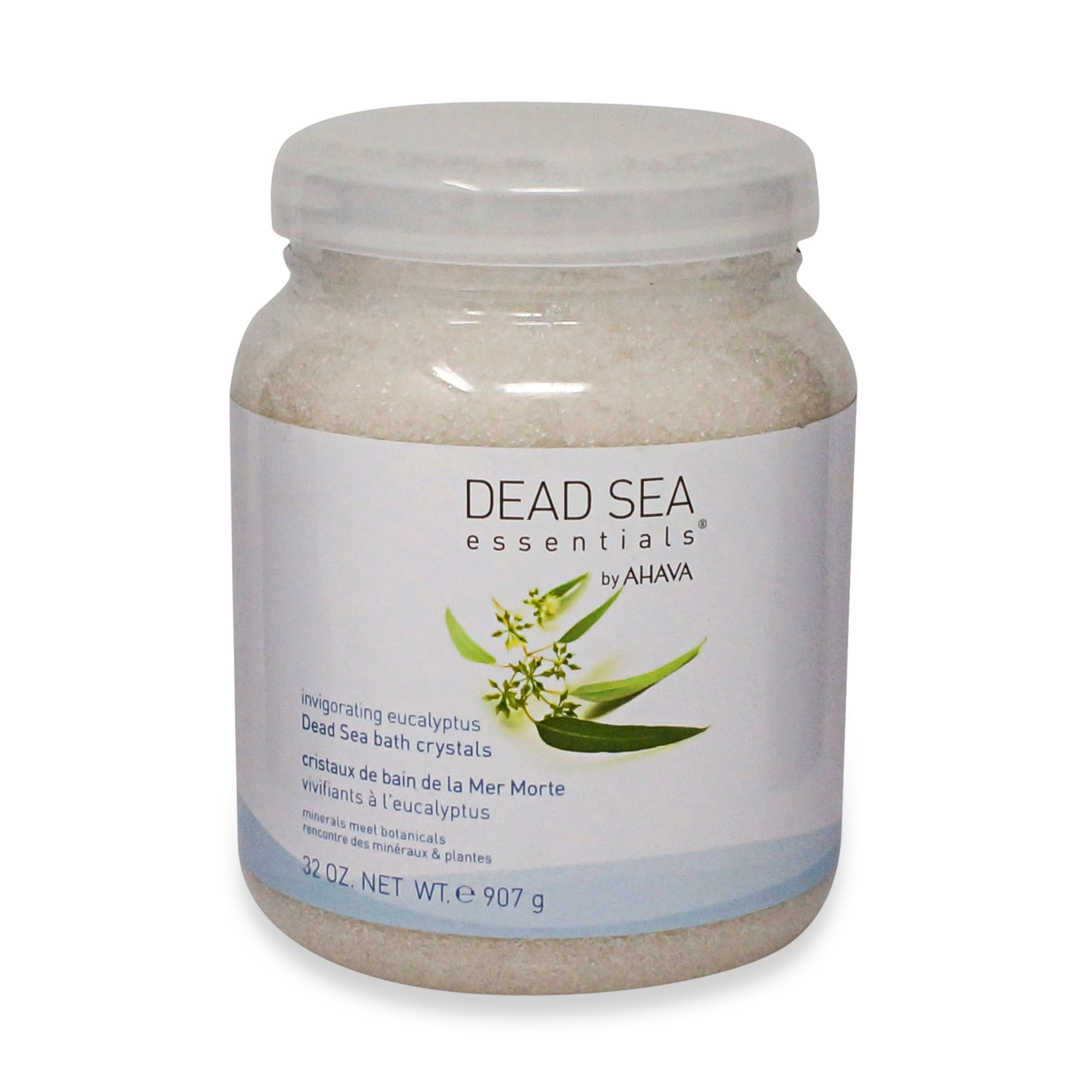 AHAVA ~ INVIGORATING EUCALYPTUS DEAD SEA BATH CRYSTALS ~ 32 OZ