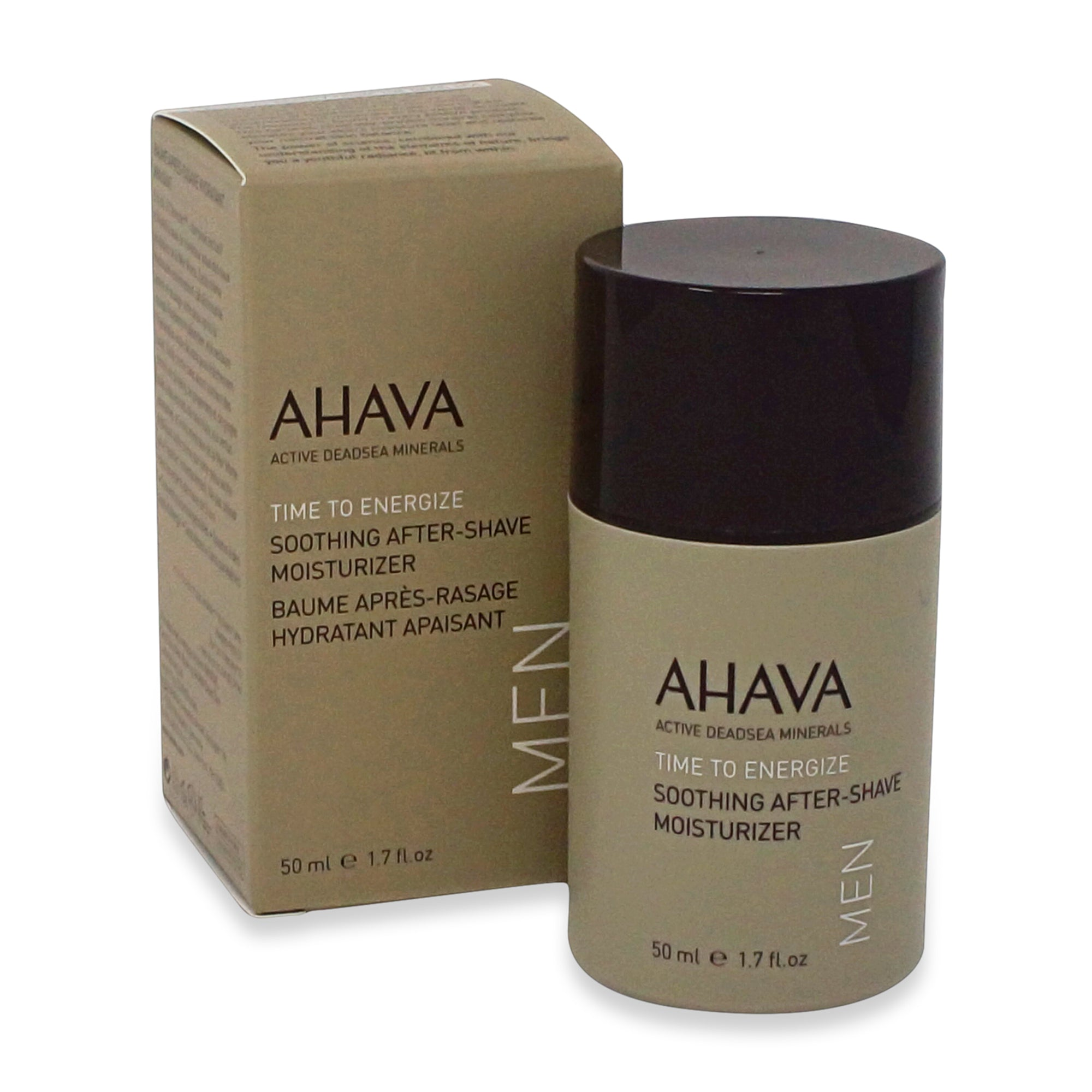 AHAVA ~ MEN ~ TIME TO ENERGIZE ~ SOOTHING AFTER-SHAVE MOISTURIZER ~ 50ML