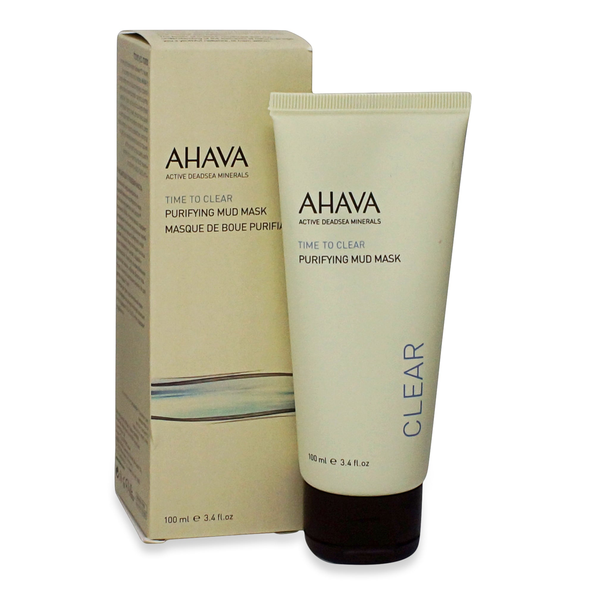 AHAVA ~ TIME TO CLEAR ~ PURIFYING MUD MASK ~ 100ML