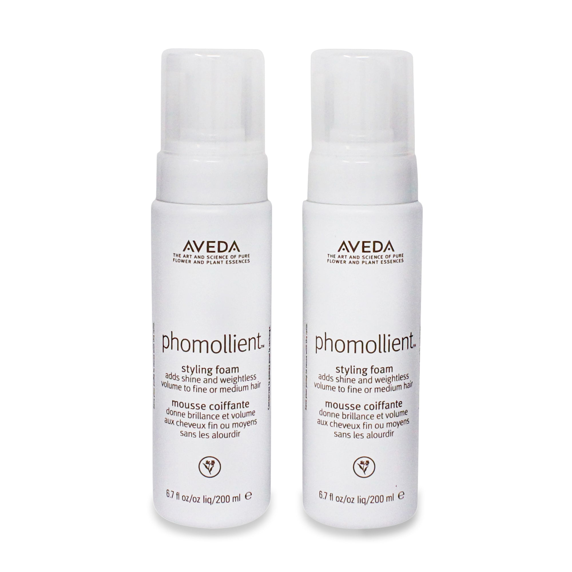 AVEDA ~ PHOMOLLIENT STYLING FOAM ~ 6.7 OZ ~ 2 PACK