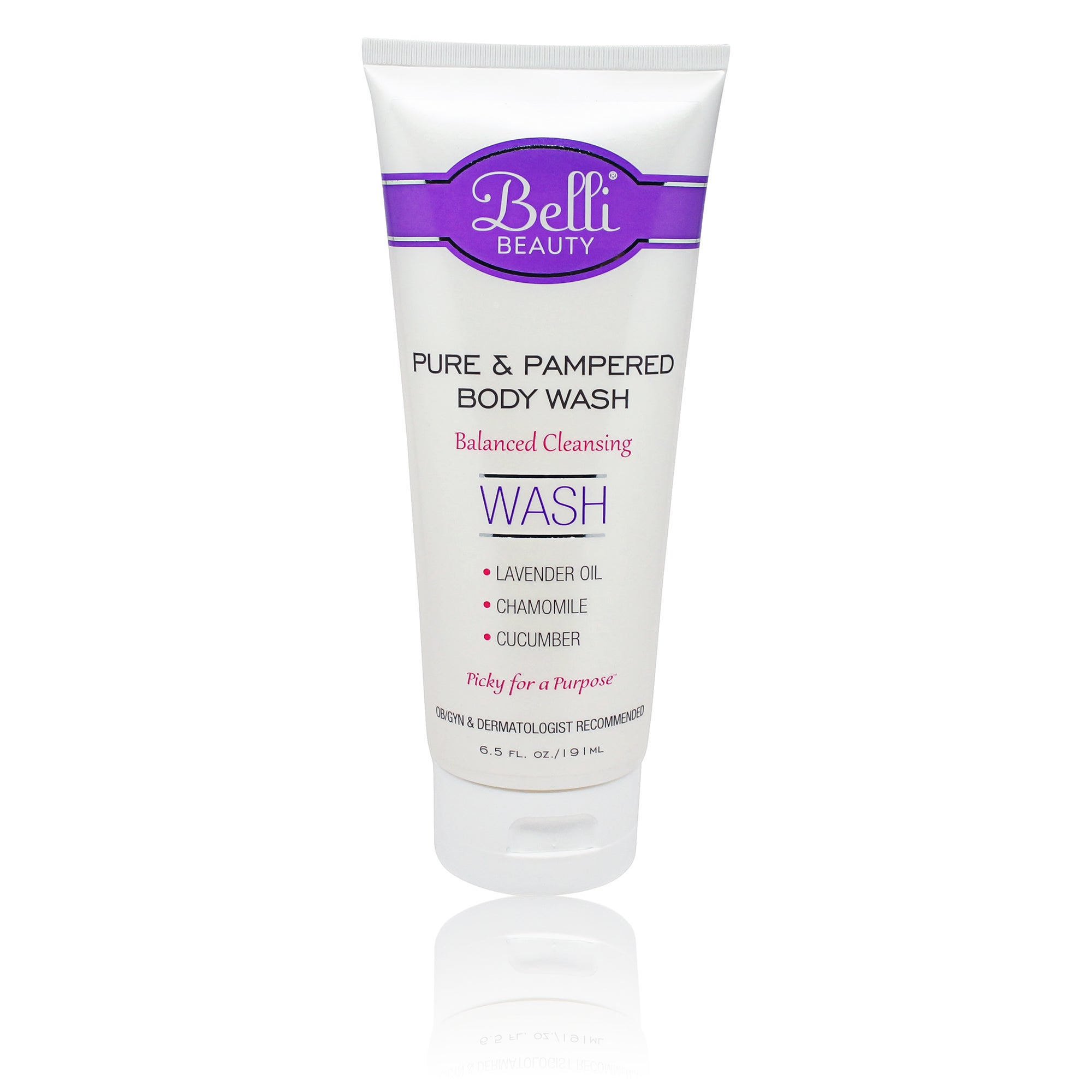 BELLI ~ PURE AND PAMPERED BODY WASH ~ 6.5 OZ