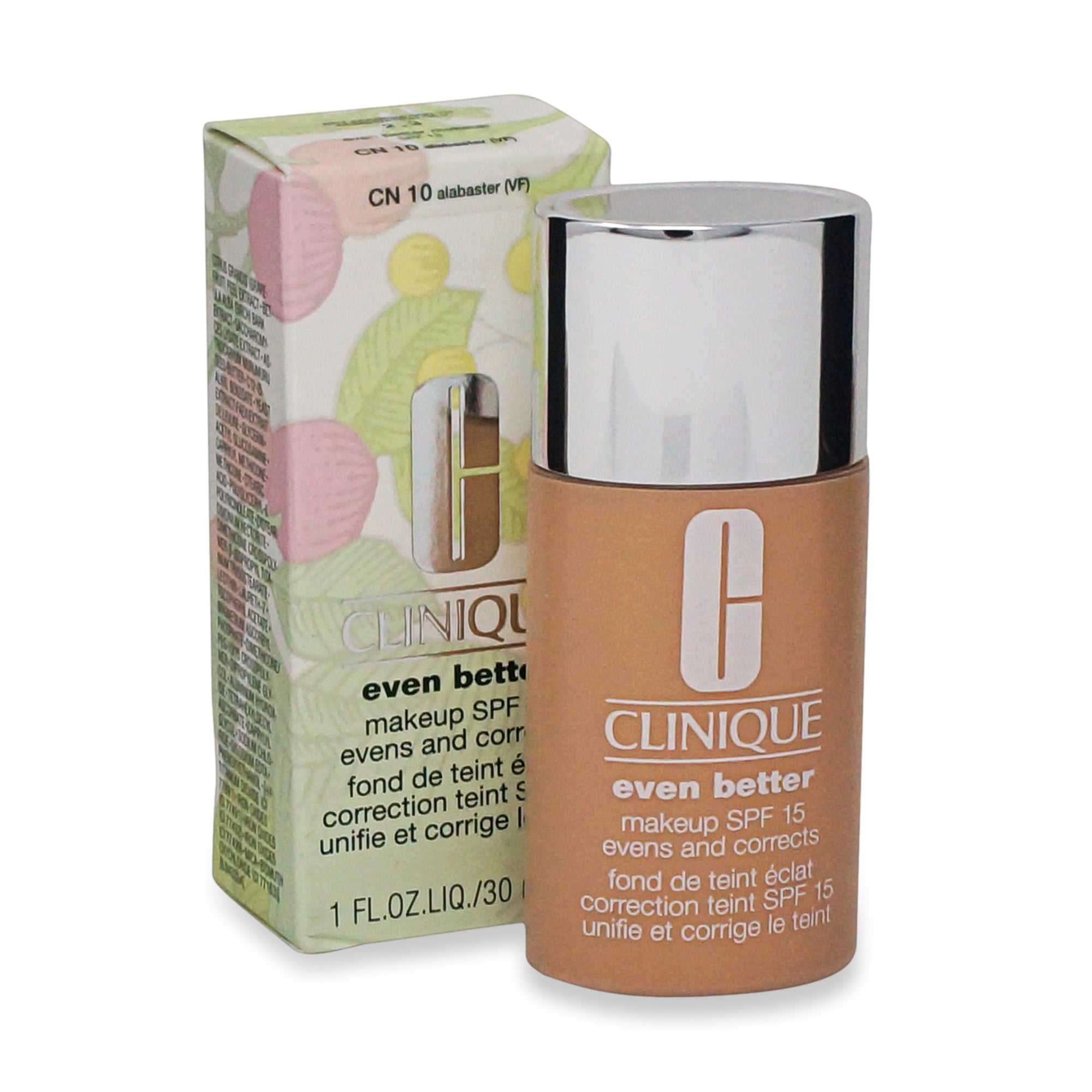 CLINIQUE ~ FOUNDATION ~ EVEN BETTER MAKEUP SPF 15 ~ 10 - ALABASTER ~ 30 ML
