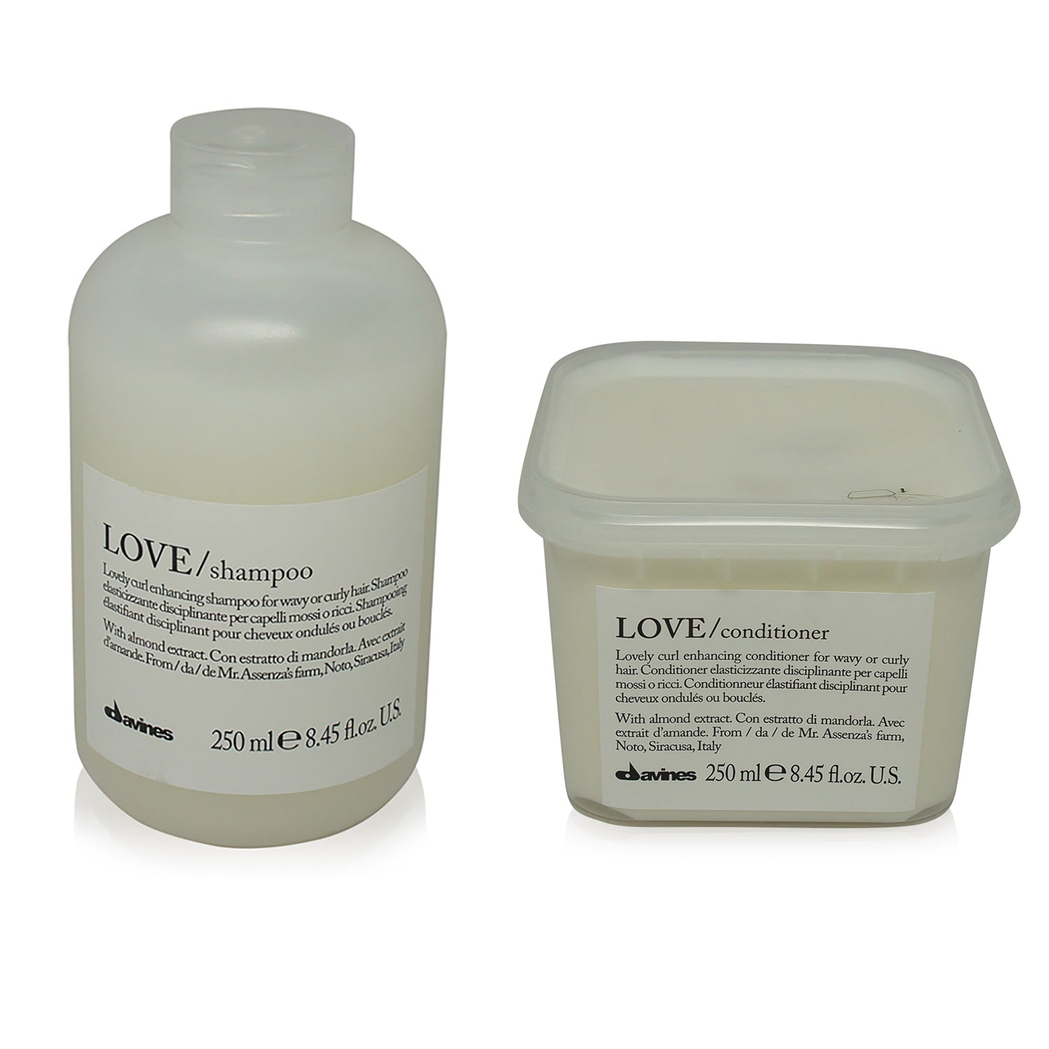 DAVINES ~ LOVE CURL ENHANCING SHAMPOO & CONDITIONER COMBO PACK 250ML