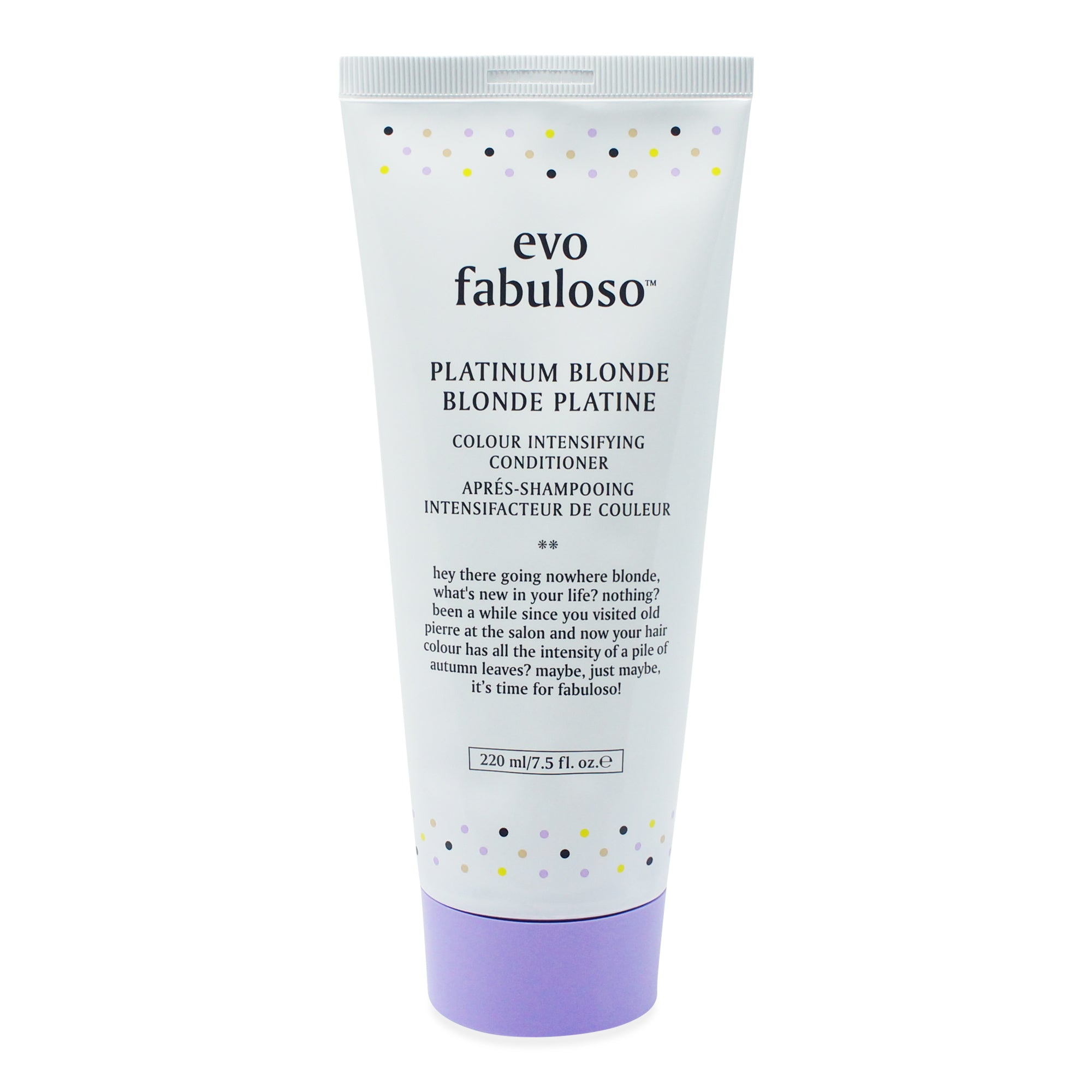 EVO ~ FABULOSO ~ PLATINUM BLONDE ~ INTENSIFYING CONDITIONER 220 ML TUBE *NEW 2018