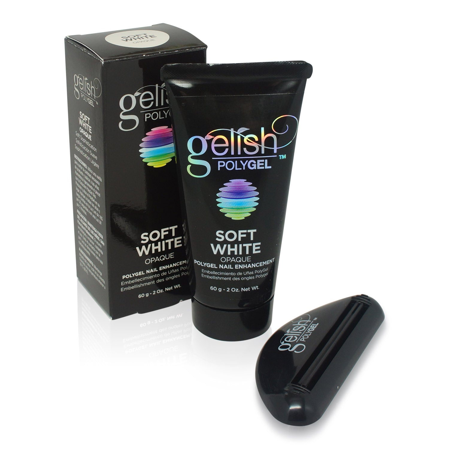 GELISH ~ POLYGEL SOFT WHITE ~ 2 oz