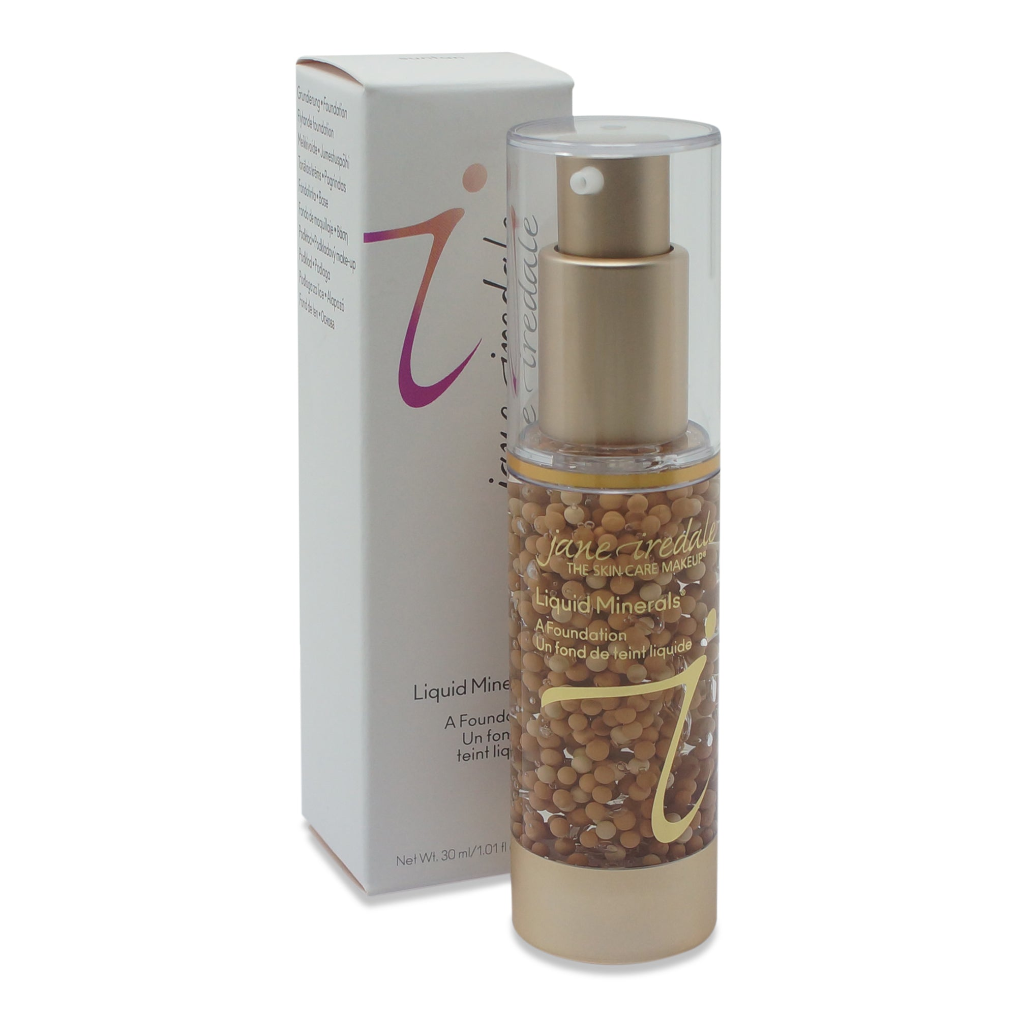 JANE IREDALE ~ LIQUID MINERALS FOUNDATION ~ SUNTAN ~ 1.01 oz