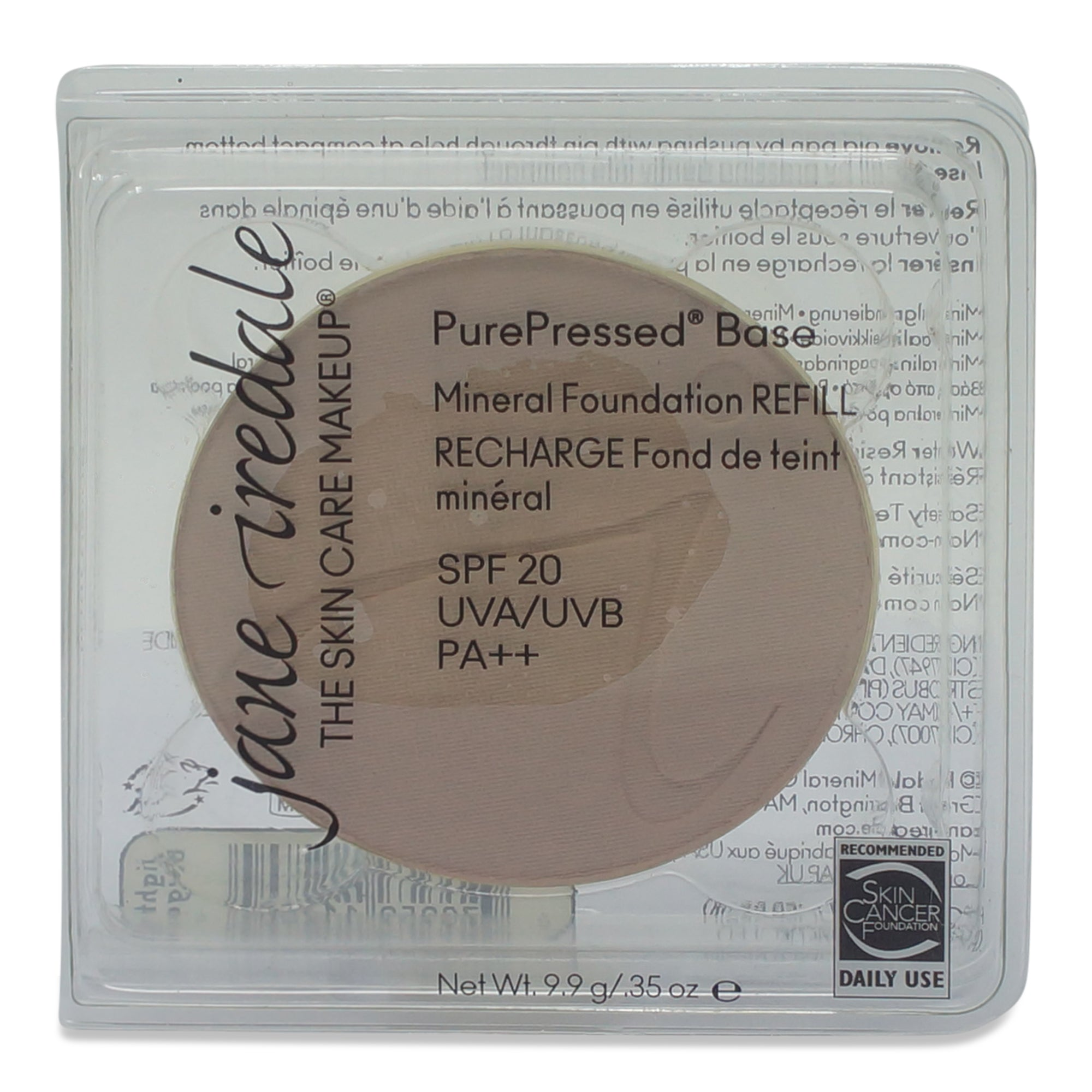 jane iredale PurePressed Base Refill Beige 0.35 Oz