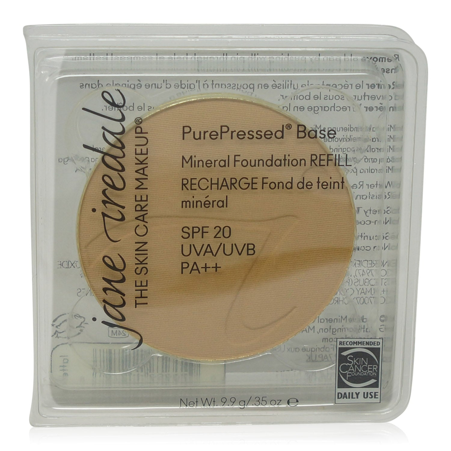 JANE IREDALE ~ PUREPRESSED BASE REFILLS LATTE ~ .35 oz