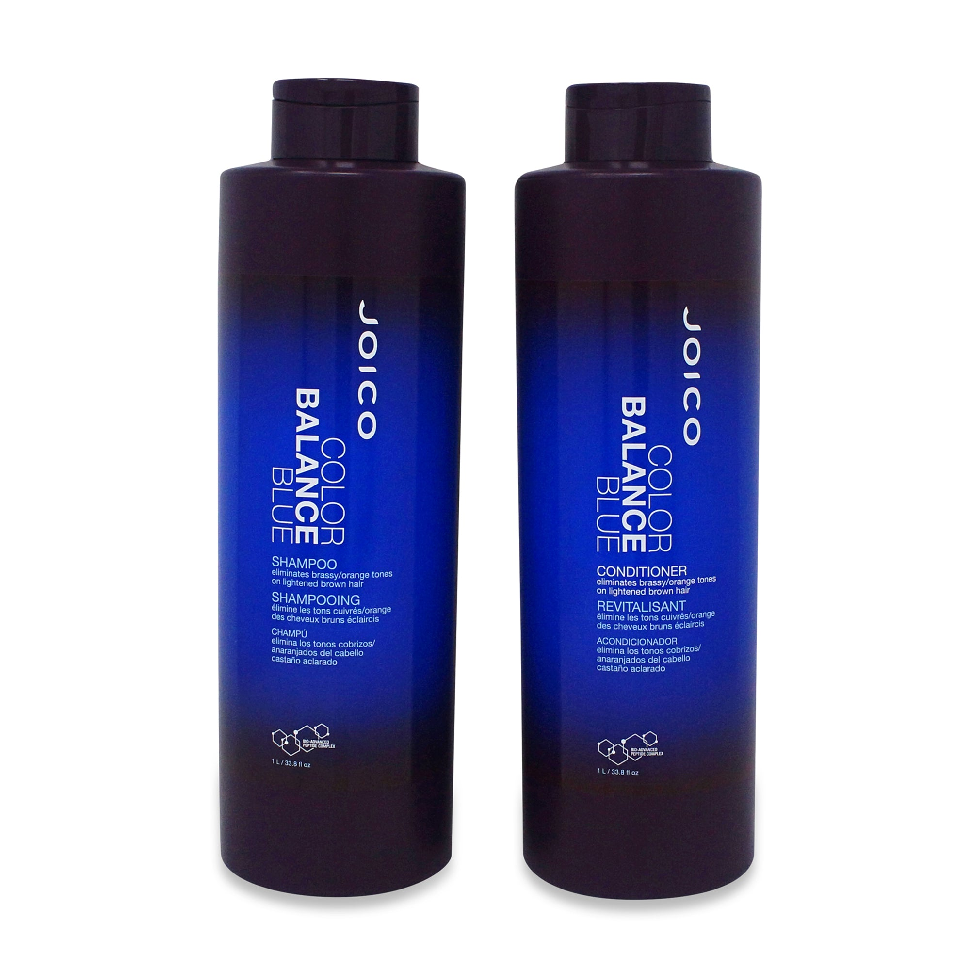 JOICO ~ COLOR BALANCE ~ BLUE ~ SHAMPOO & CONDITIONER ~ 1LITER COMBO PACK