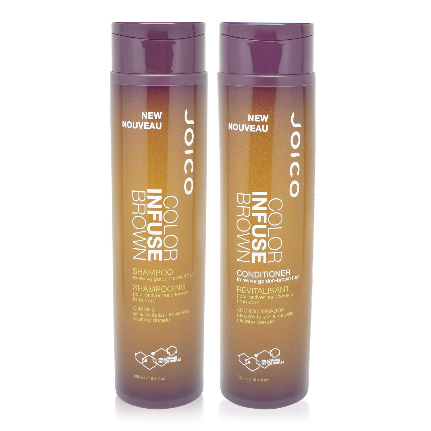 JOICO | COLOR INFUSE | GOLDEN BROWN  | SHAMPOO AND CONDITIONER | 10.1 OZ EACH