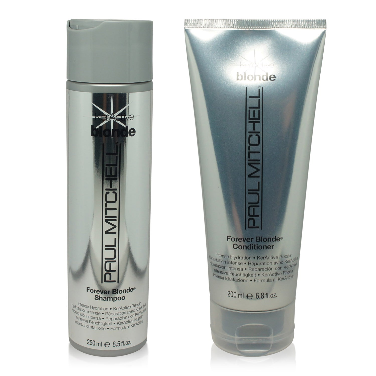 PAUL MITCHELL ~ BLONDE ~ FOREVER BLONDE SHAMPOO 8.5 OZ + FOREVER BLONDE CONDITIONER 6.8 OZ ~  COMBO PACK