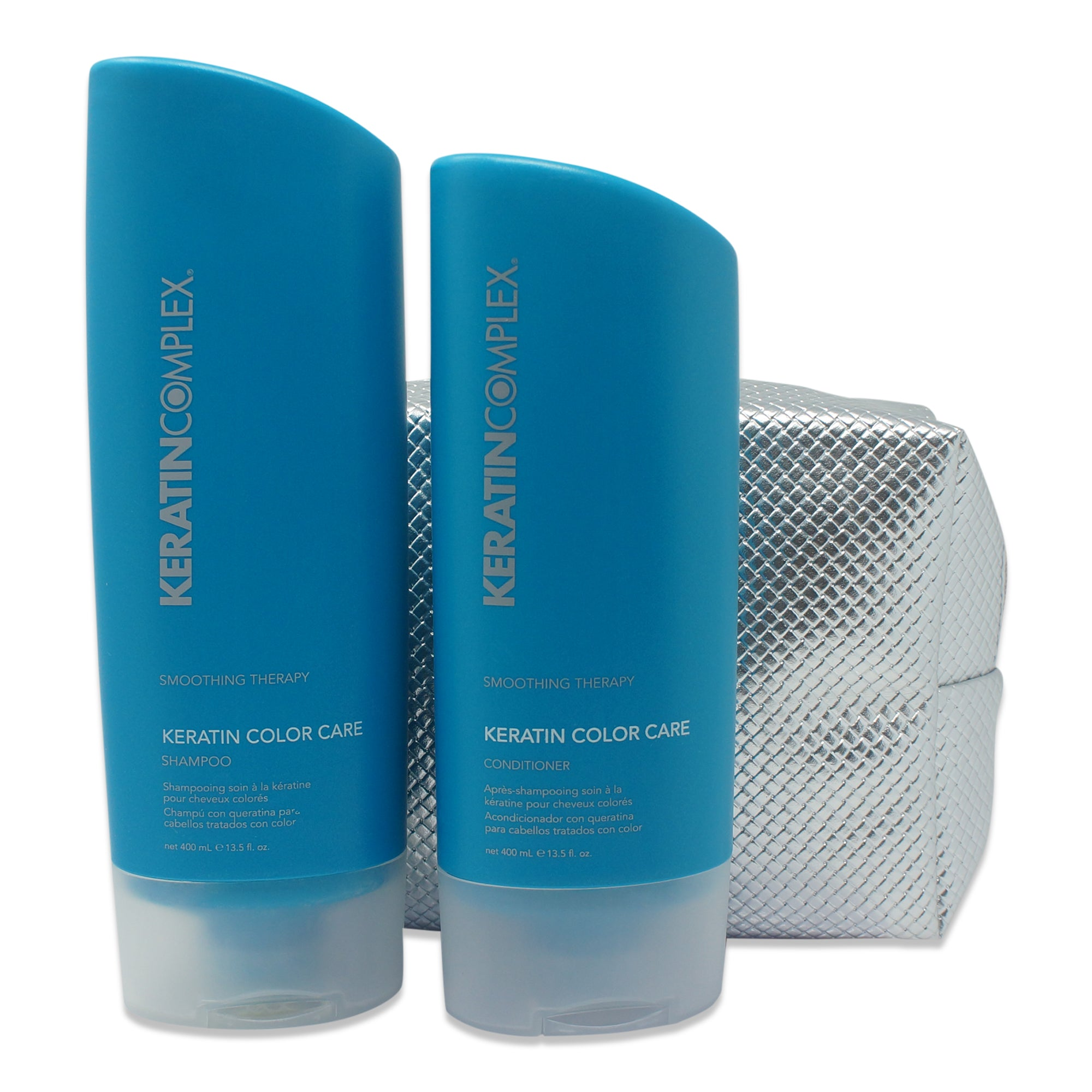 Keratin Complex Keratin Color Care Shampoo And Conditioner Combo 13 5 Oz With Free Makeup Bag