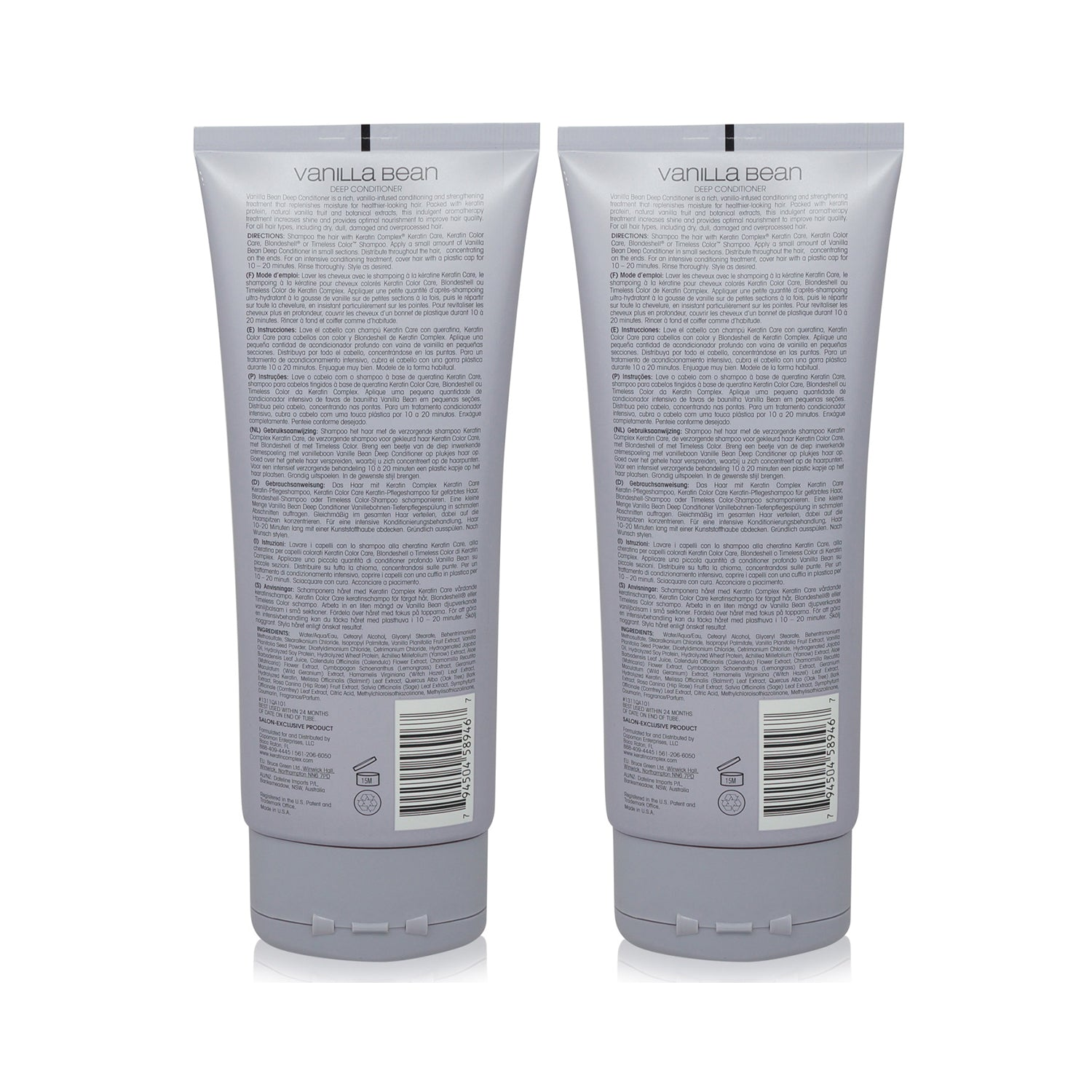 Keratin Complex Vanilla Bean Conditioner 7oz- 2 Pack