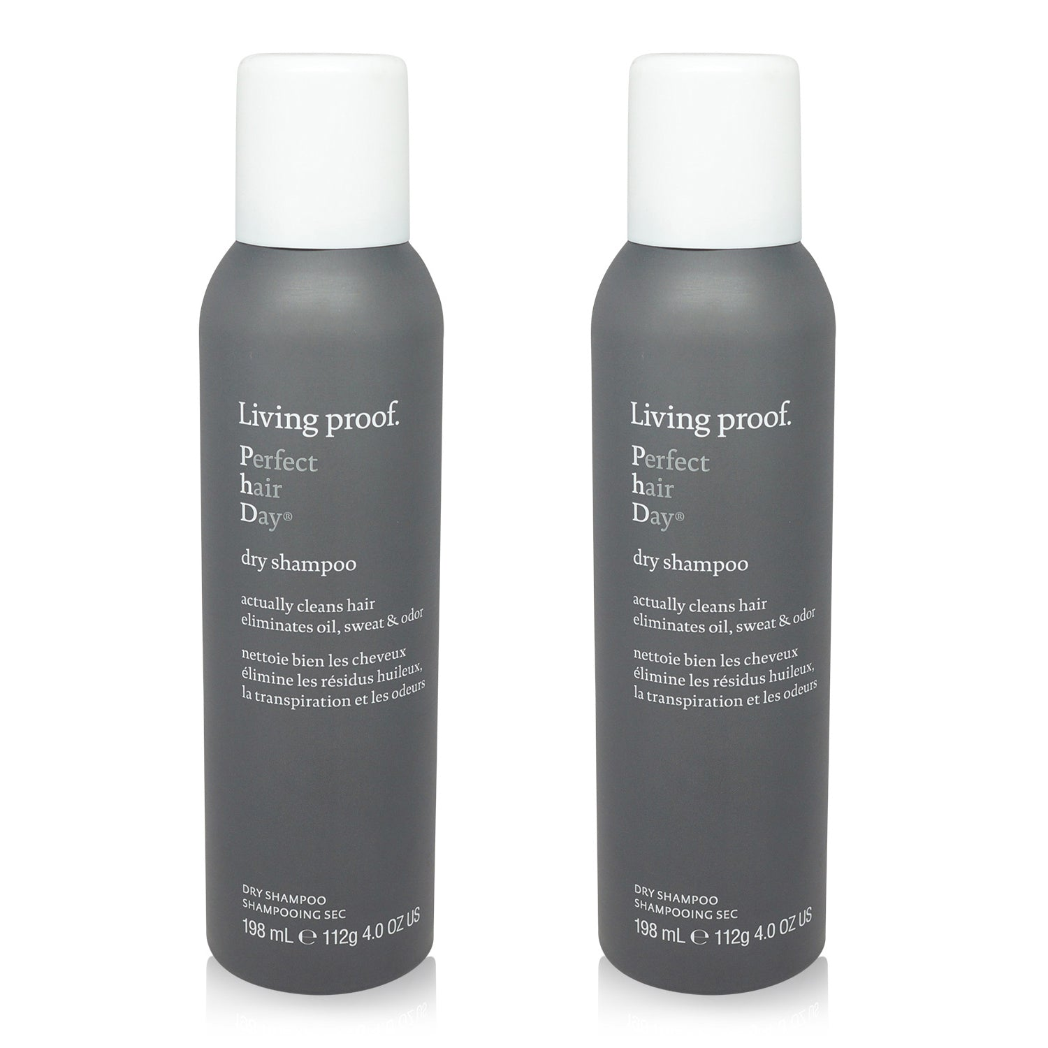 LIVING PROOF ~ PERFECT HAIR DAY (PHD) ~ DRY SHAMPOO 4 OZ ~ 2 PACK (AEROSOL)