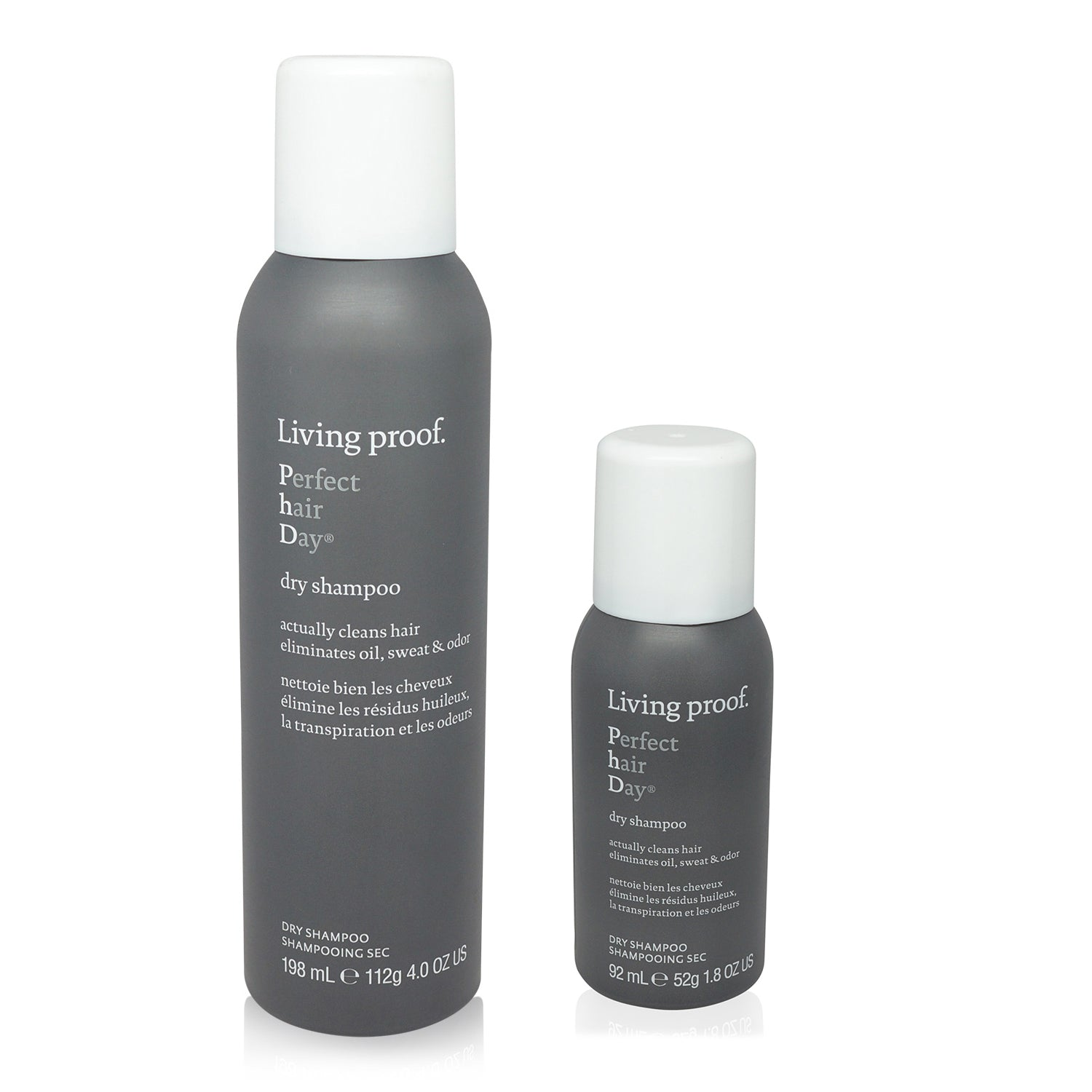 LIVING PROOF ~ PERFECT HAIR DAY (PHD) ~ DRY SHAMPOO 4 OZ & 1.8 OZ (AEROSOL) ~ COMBO PACK