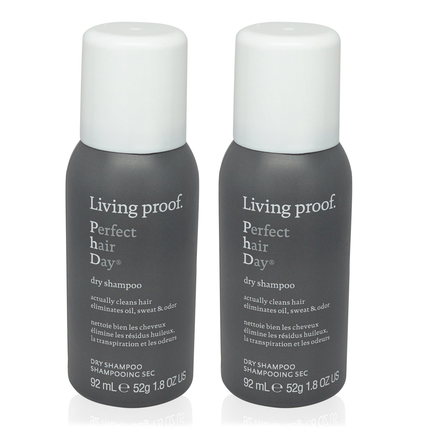 LIVING PROOF ~ PERFECT HAIR DAY (PHD) ~ DRY SHAMPOO ~ TRAVEL 1.8 oz ~ 2 PACK (ARESOL)