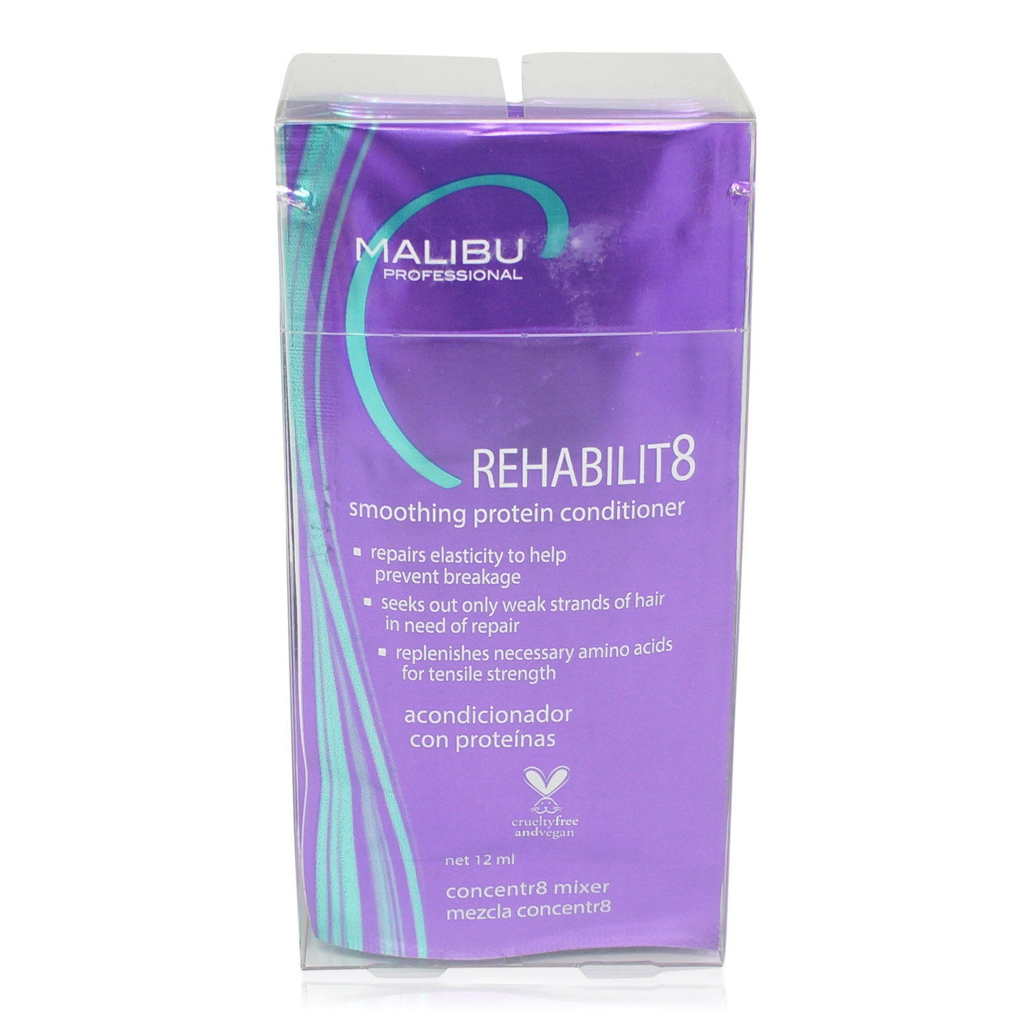 MALIBU ~ REHABILIT8 SMOOTHING PROTEIN CONDITIONER BOX OF 6