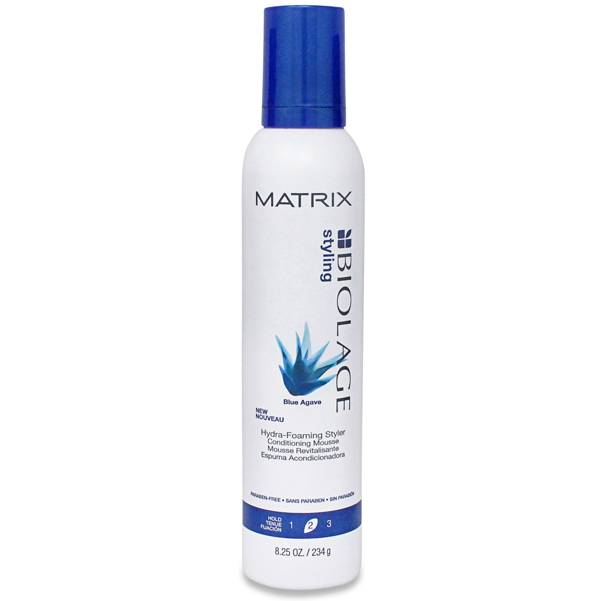 MATRIX ~ BIOLAGE ~ STYLING BLUE AGAVE HYDRA-FOAMING STYLER MOUSSE ~ 8.25 OZ