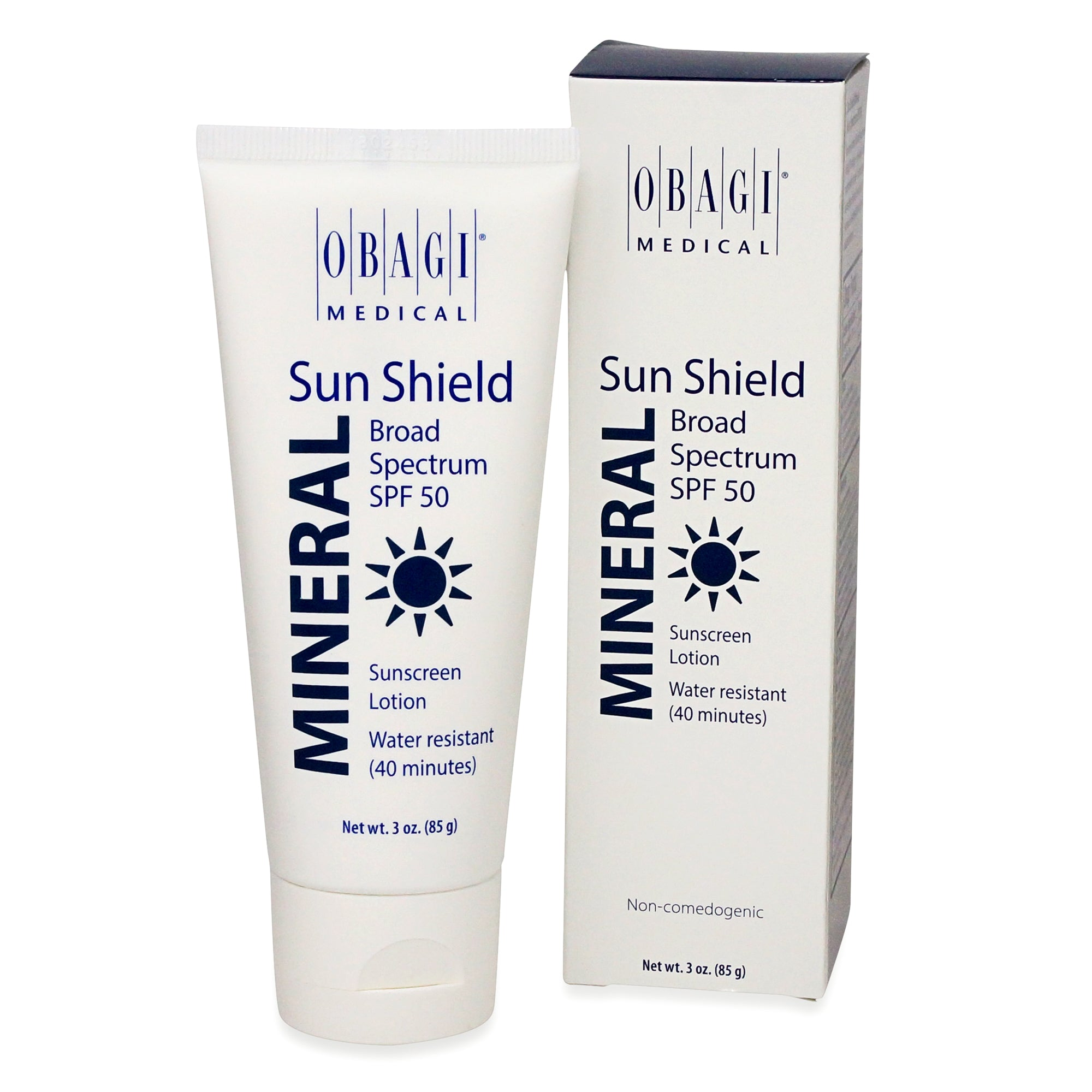 OBAGI ~ SUN SHIELD ~ MINERAL BROAD SPECTRUM SPF50 SUNCREEN LOTION WATER RESISTANT~ 3OZ (85G)