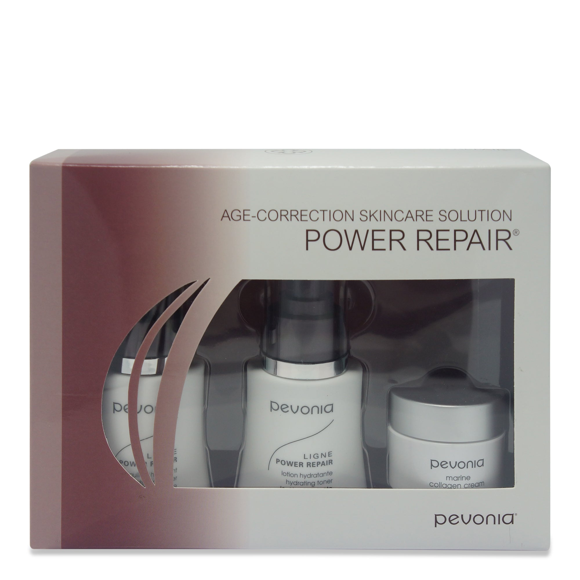 PEVONIA ~ AGE CORRECTION SKINCARE SOLUTION PACK ~ POWER REPAIR