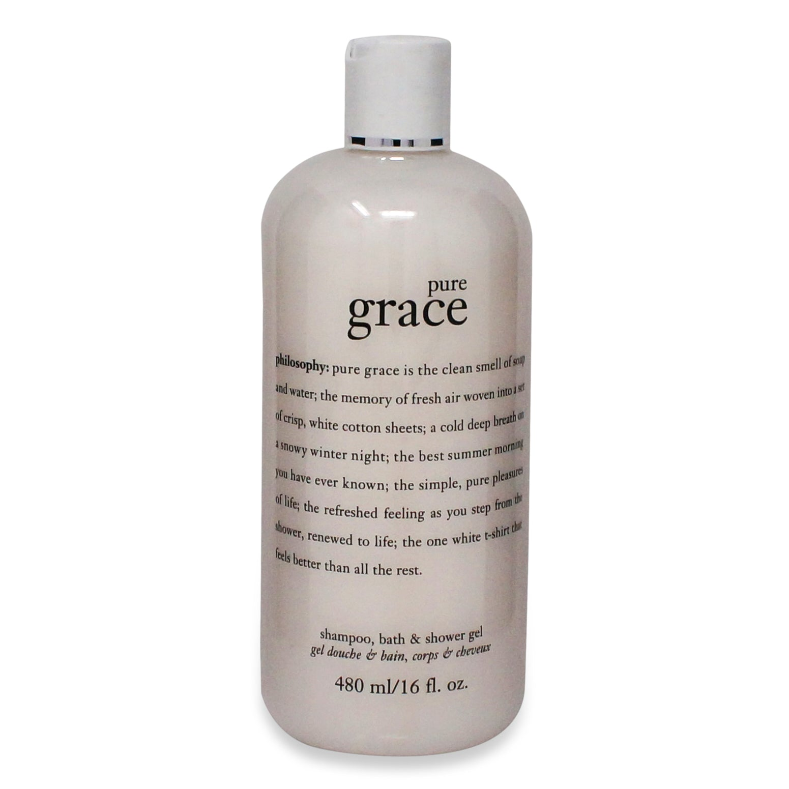 PHILOSOPHY ~ PURE GRACE ~ SHAMPOO, BATH & SHOWER GEL ~ 16OZ