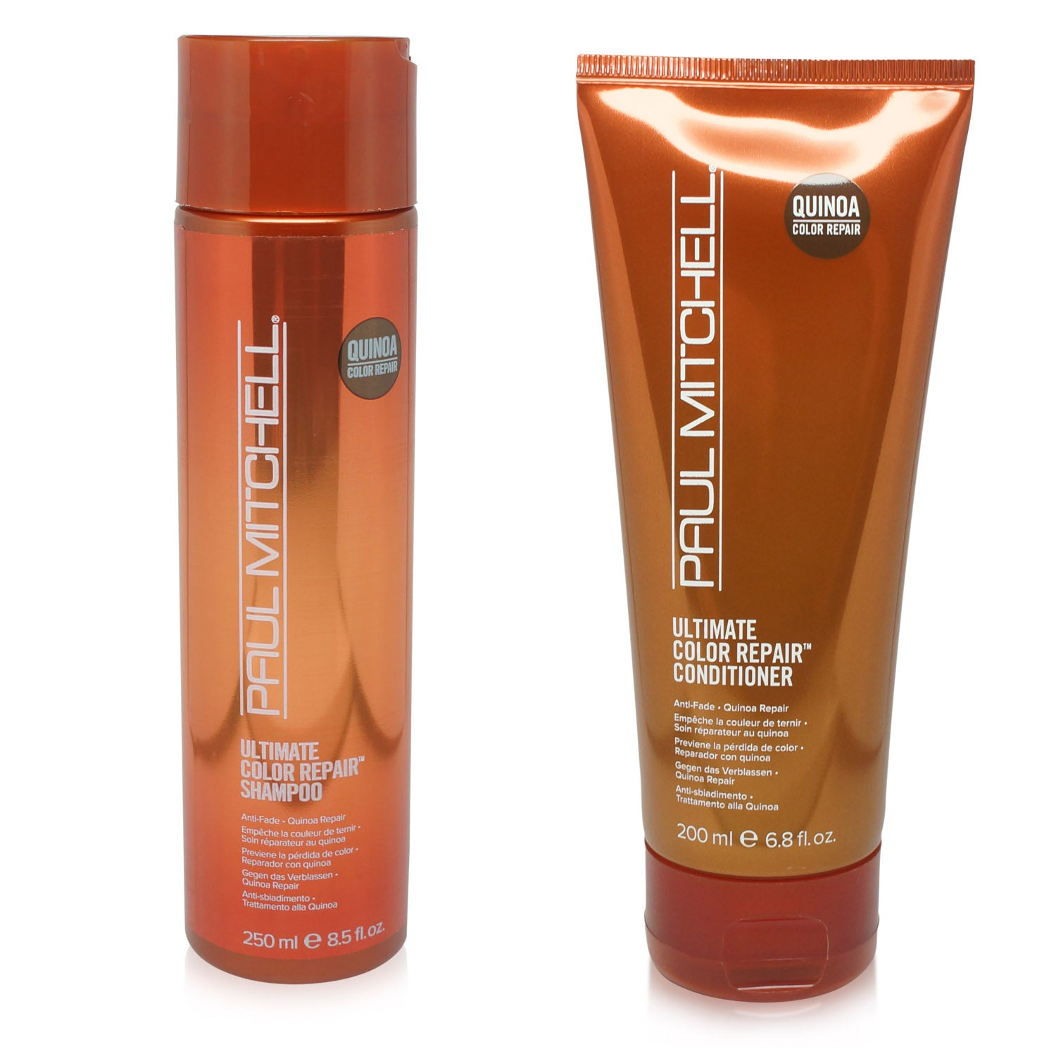 PAUL MITCHELL ~ ULTIMATE COLOR ~ REPAIR SHAMPOO 8.5 OZ + REPAIR CONDITIONER COMBO PACK ~ 6.8 OZ
