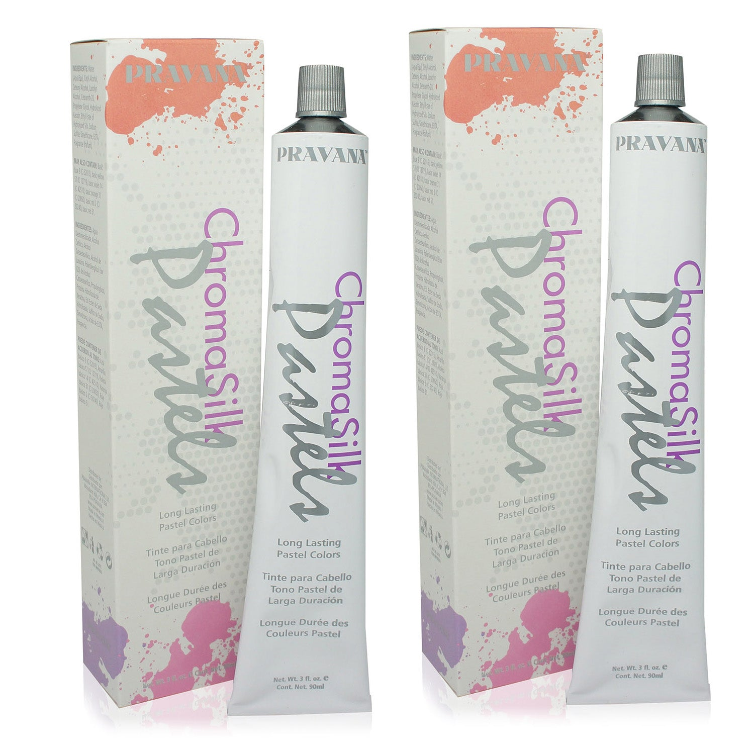 PRAVANA ~ CHROMA SILK VIVIDS HAIR COLOR PRETTY IN PINK 3 OZ ~ 2 PACK