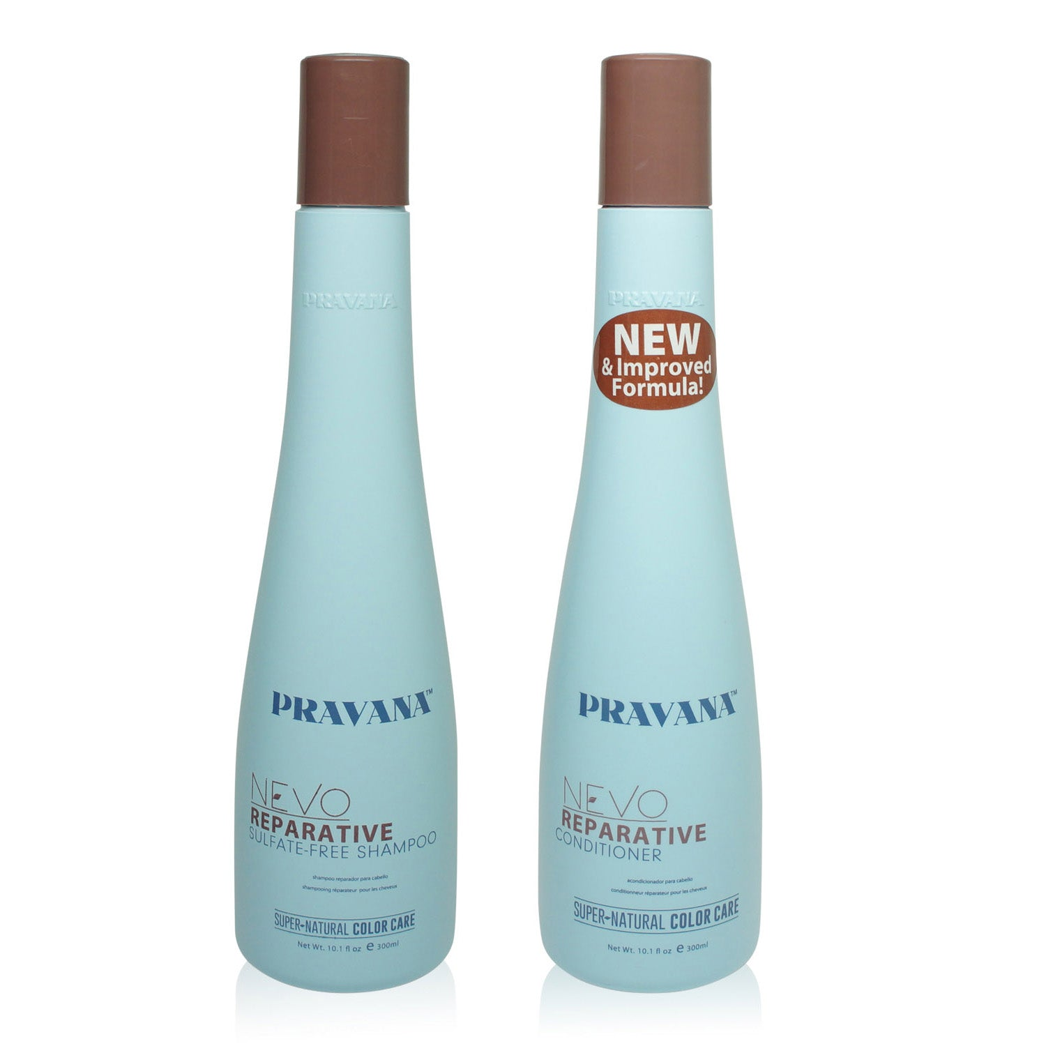 PRAVANA ~ NEVO REPARATIVE CONDITIONER AND SHAMPOO 10 OZ COMBO PACK