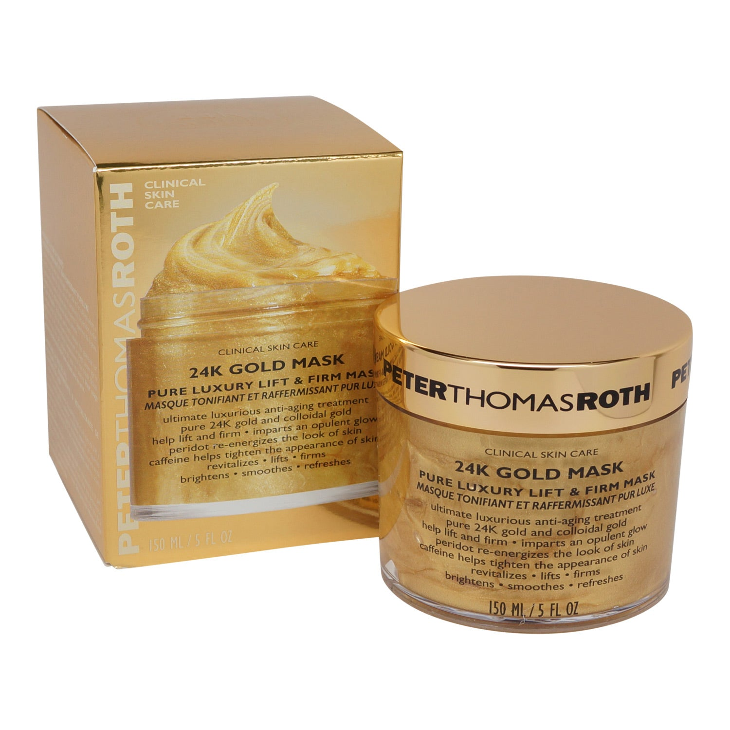 PETER THOMAS ROTH ~ 24K GOLD MASK ~ 5 OZ  *2018*