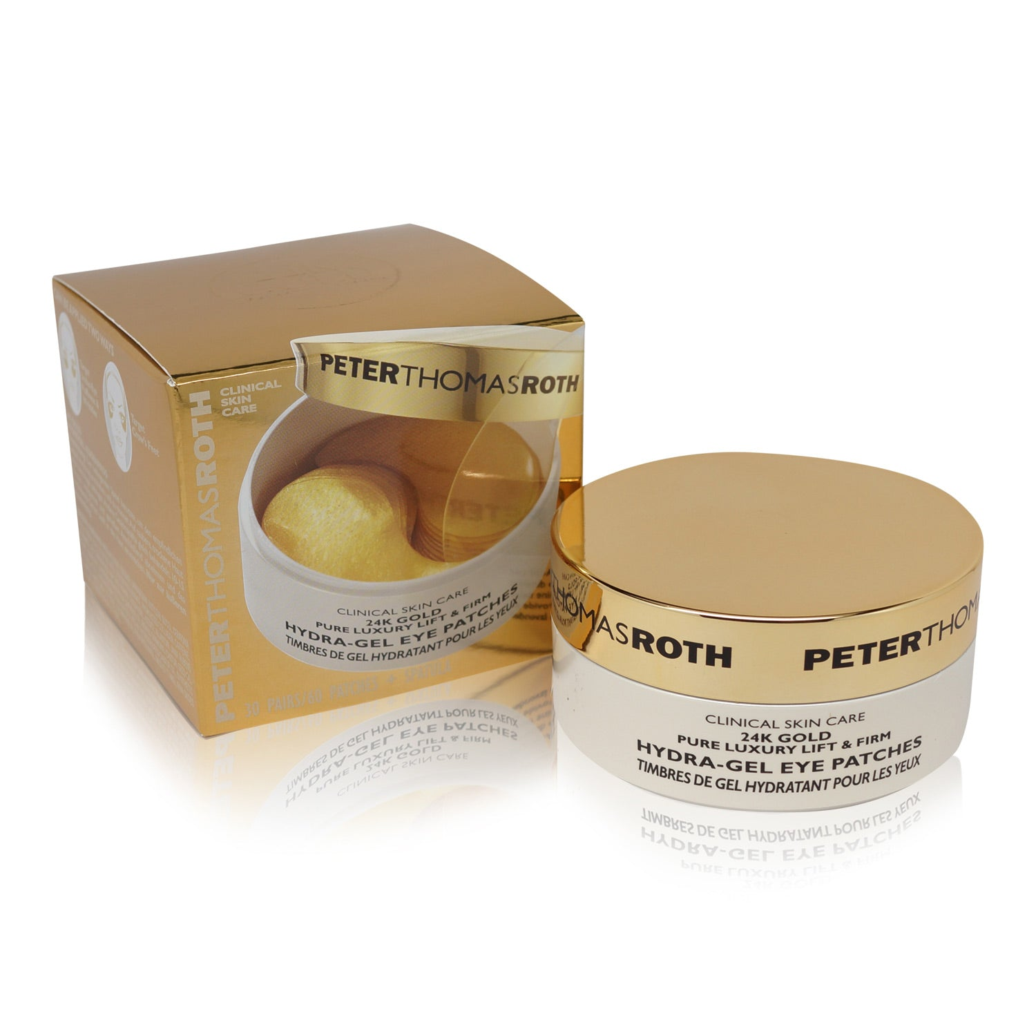 PETER THOMAS ROTH ~ 24K GOLD HYDRA-GEL EYE PATCHES ~ 60CT *2018*