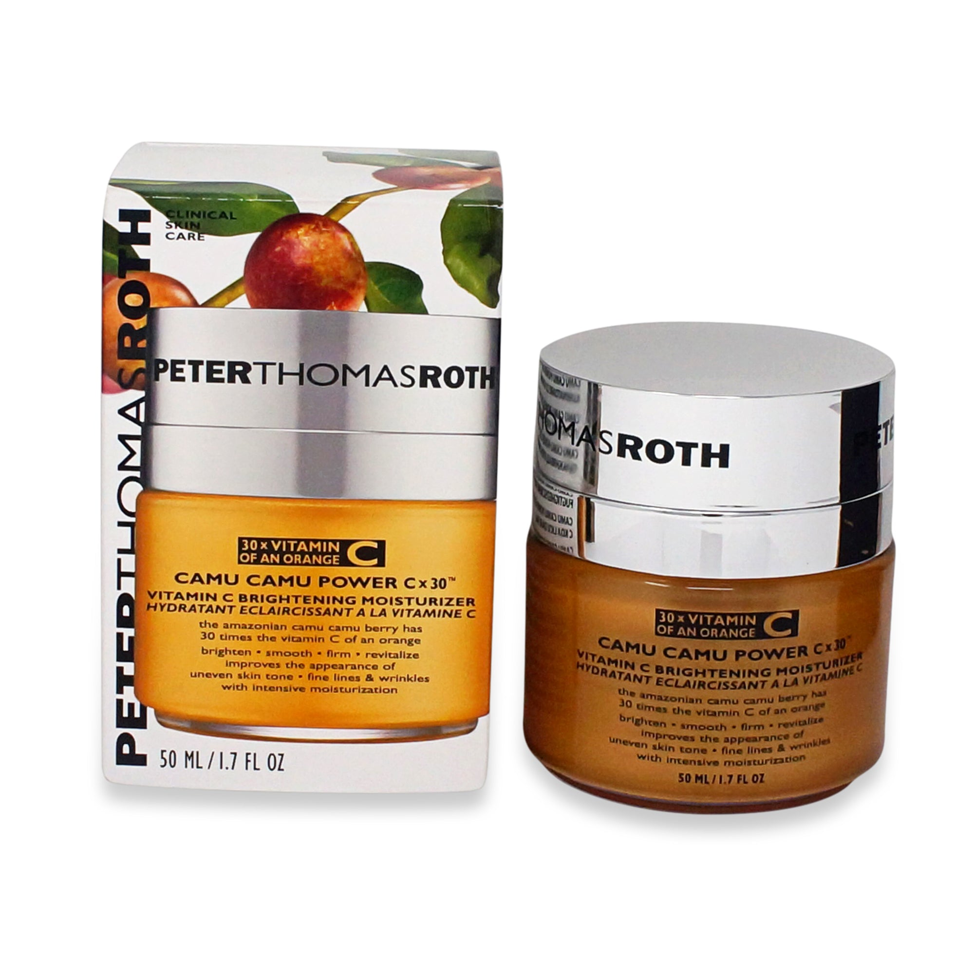 PETER THOMAS ROTH ~ CAMU CAMU POWER CX30 VITAMIN C BRIGHTENING MOISTURIZER ~ 1.7 FL OZ *2018*