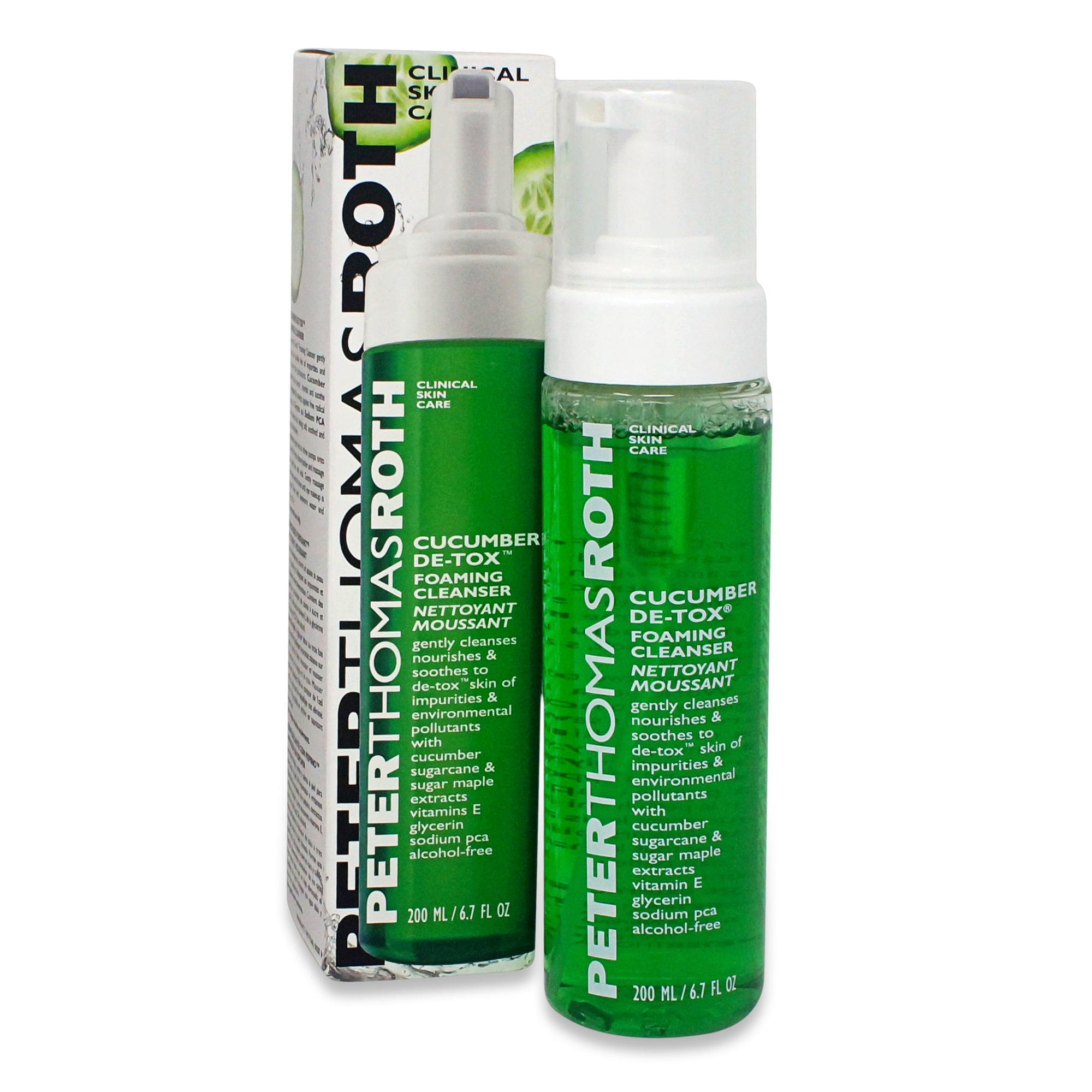 PETER THOMAS ROTH ~ CUCUMBER DE-TOX FOAMING CLEANSER ~ 6.7 OZ *2018*